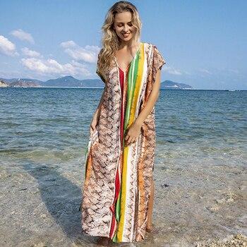 Beach Long Kaftan Bikini Cover up Robe de Plage Sarong Beach Swimsuit cover up chiffon beach tunic dress cover up bikini swim robe de plage femme solid pareos sarong swimsuit