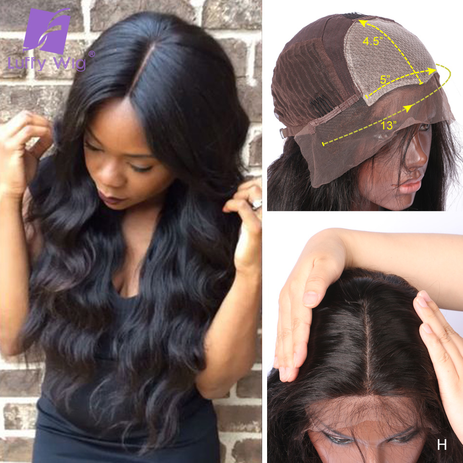 5x4.5 Silk Base Human Hair Wigs PrePlucked Remy Brazilian Body Wave 13x6 Lace Front Wig With Baby Hair Glueless For Women LUFFY
