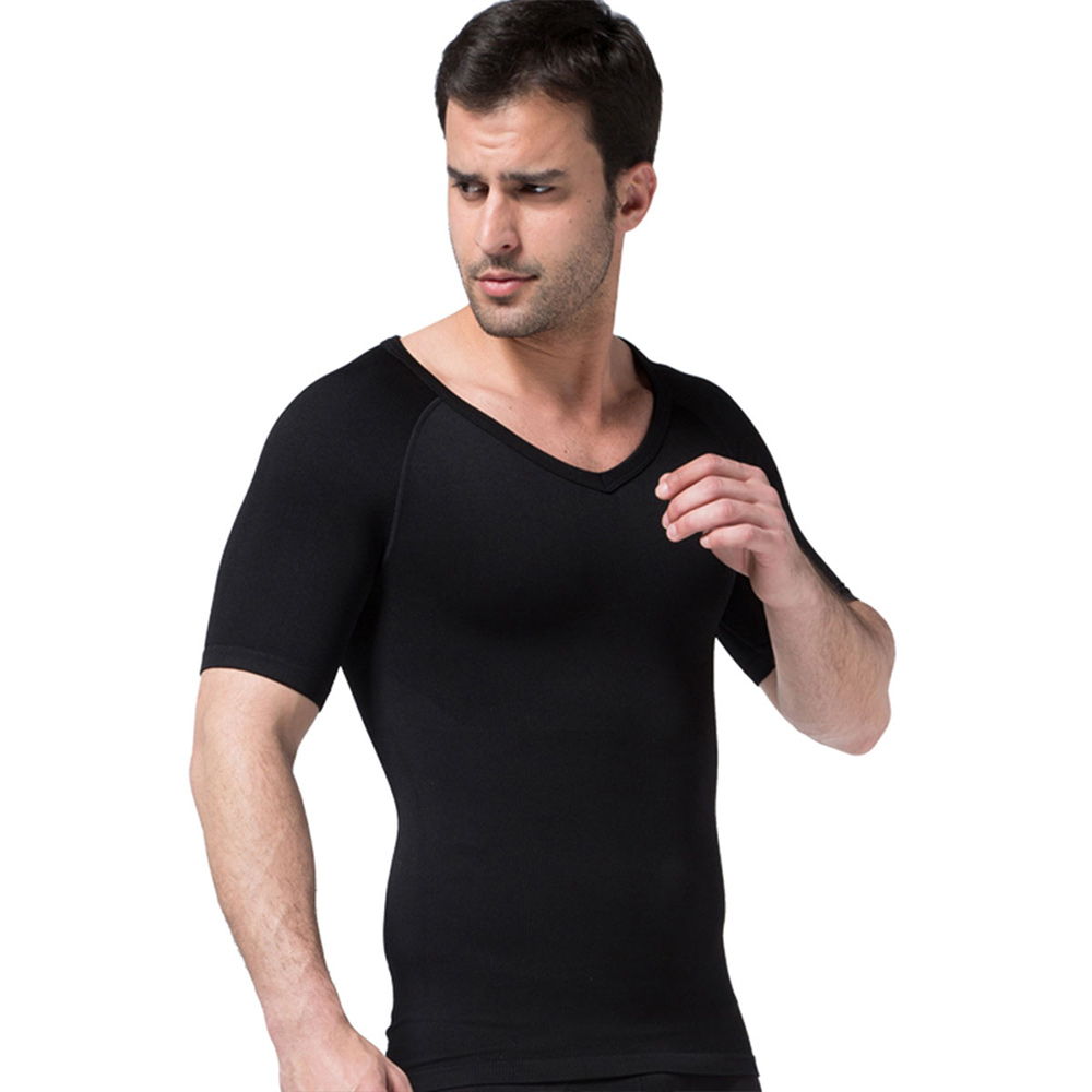 2019 New Mens Slimming Body Building Shaper Underwear Corset Trimmer Fitness Sweat T shirt Belly Tops Waist Slim Fit Shapewear in Shapers from Underwear Sleepwears