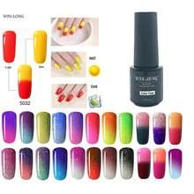 Беспроигрышный 7 мл меняющий цвет УФ гель лак для ногтей отмачиваемый