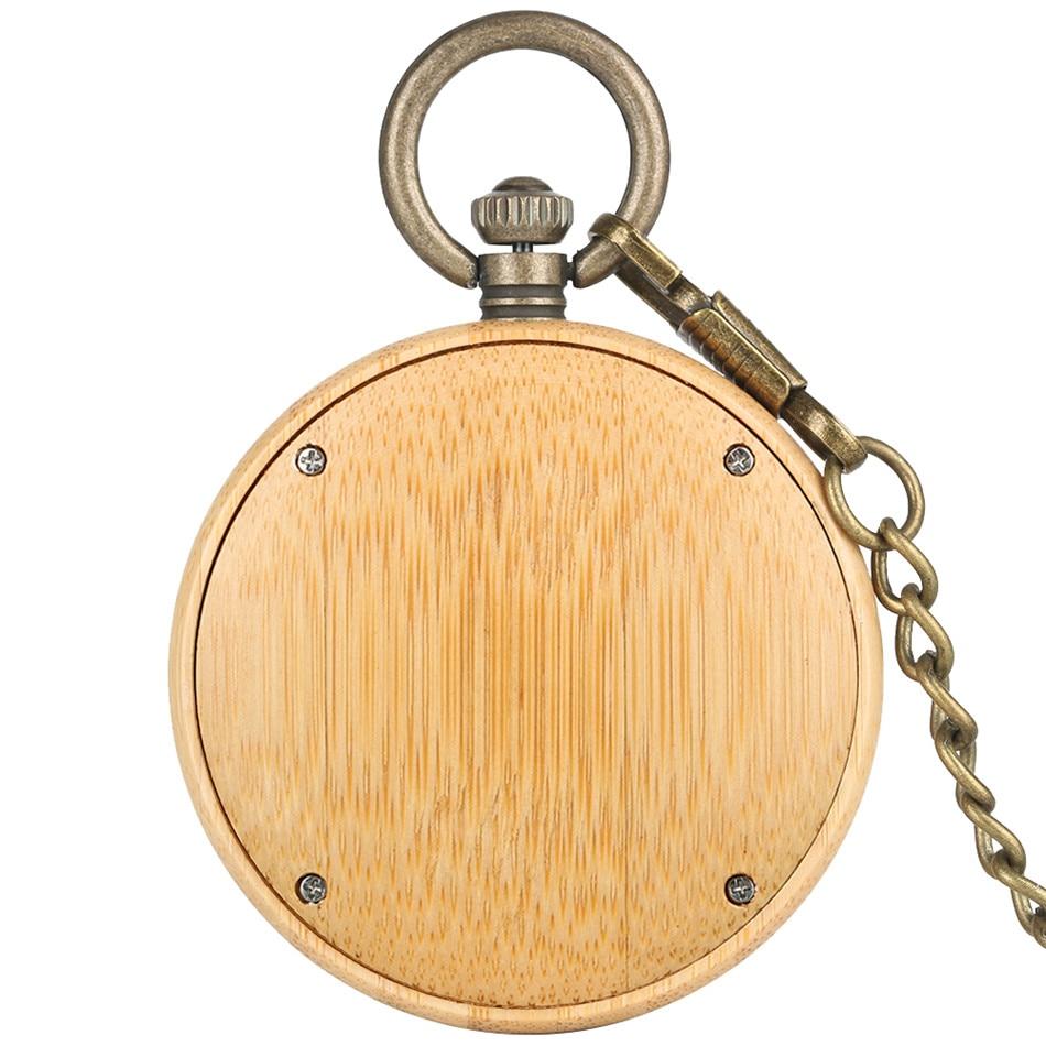 de bolso de madeira de bambu criativo