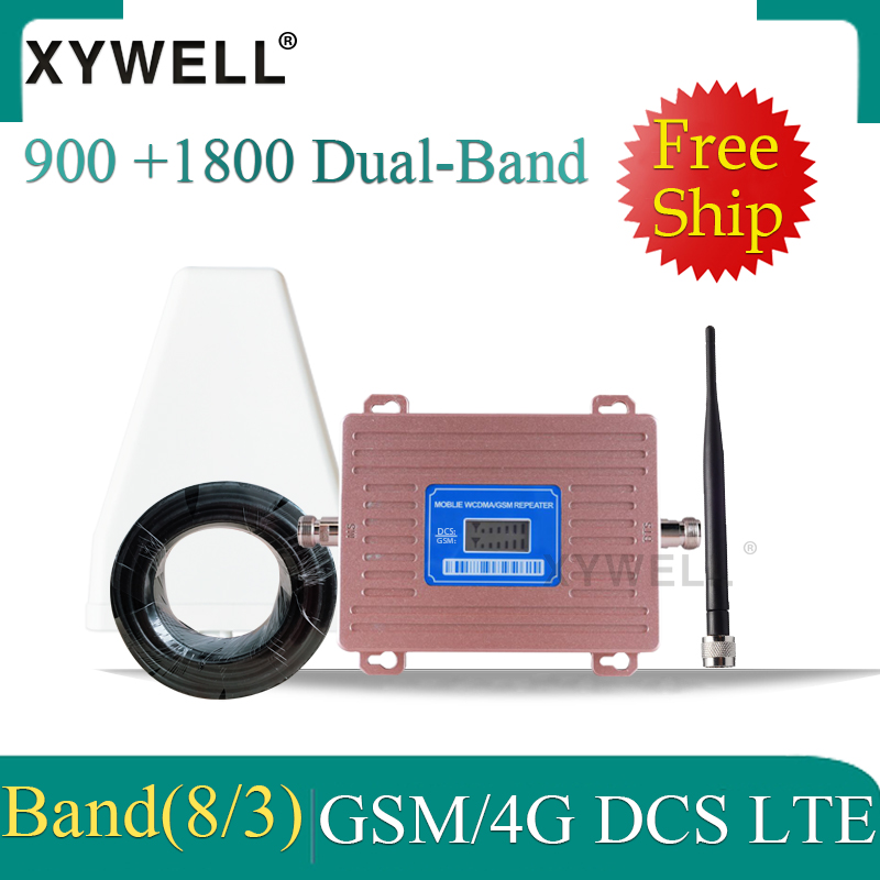 Russia Gsm Signal Booster 1800 DCS LTE 900 GSM 2g 4g Mobile Signal Booster 2G 3G 4G LTE 1800 Dual-Band Cellular Signal Repeater