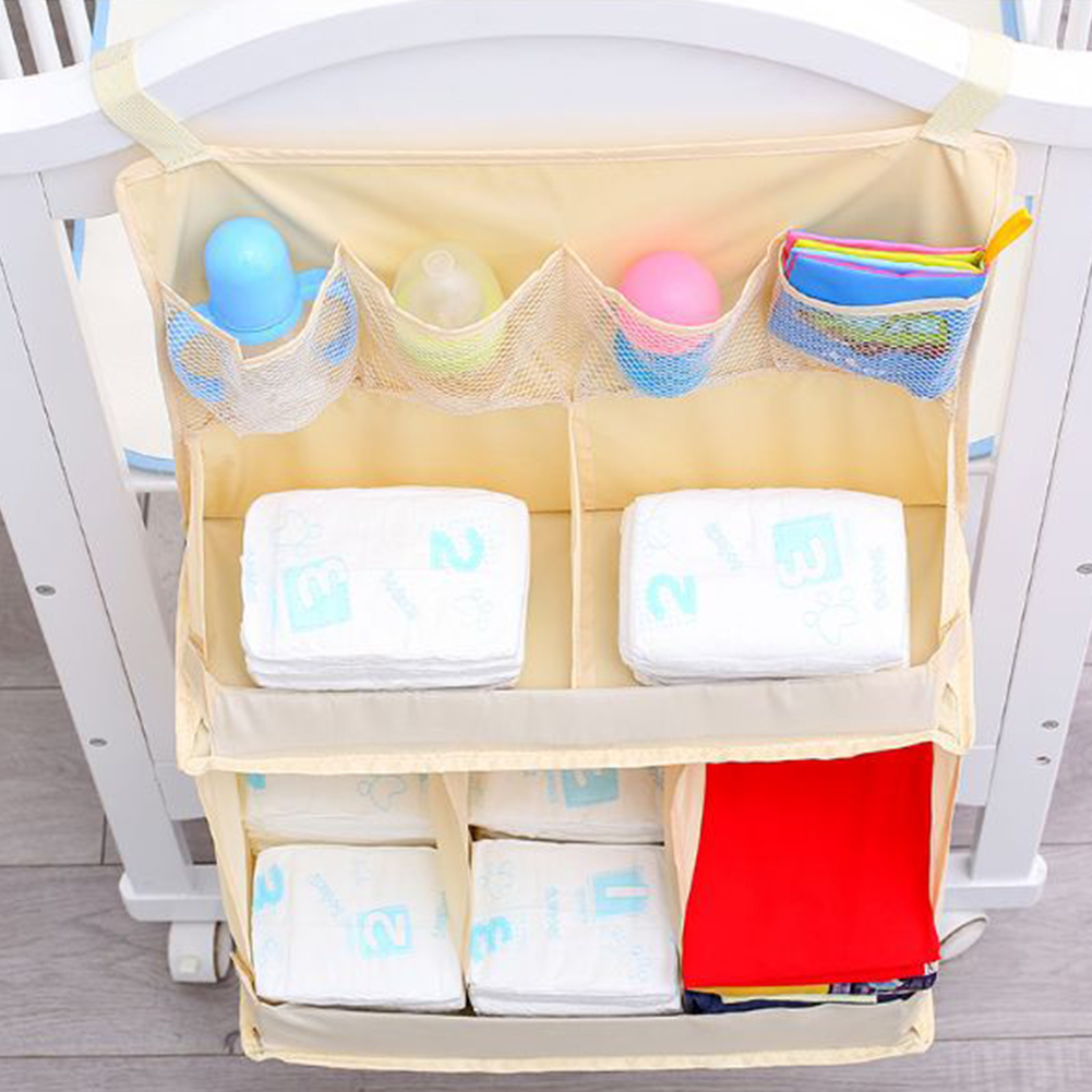 Bedding Large Portable Bed Hanging Bag Practical Organizer Bedside Baby Crib Nursing Cloth Waterproof Professional Children
