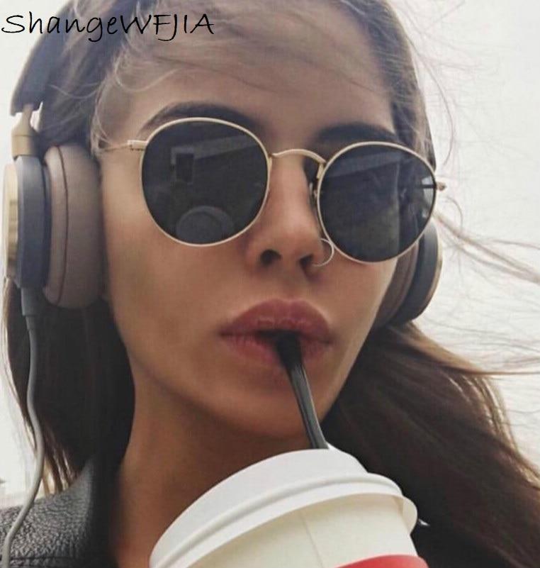 Luxury Round Sunglasses Women Brand Designer 2019 Retro Sunglass Driving Sun Glasses For Women Lady Men Female Sunglass Mirror