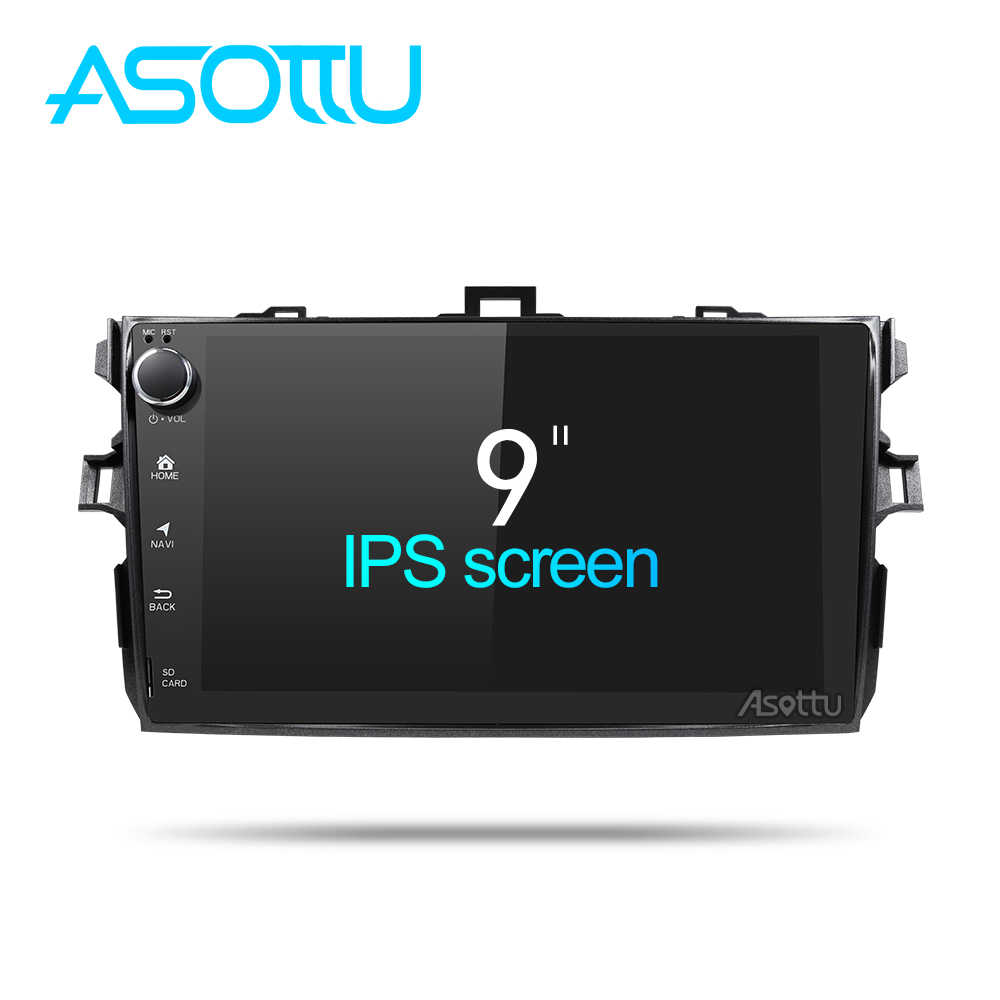 Asottu CLKLL9060 android 8.1 car dvd gps navigation for Toyota corolla 2007 2008 2009 2010 2011 car dvd radio gps stereo