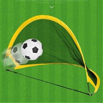 75cm Children Outdoor Soccer Training Portable Folding Net Goal Football Accessory Toy Fitness Equipment Set