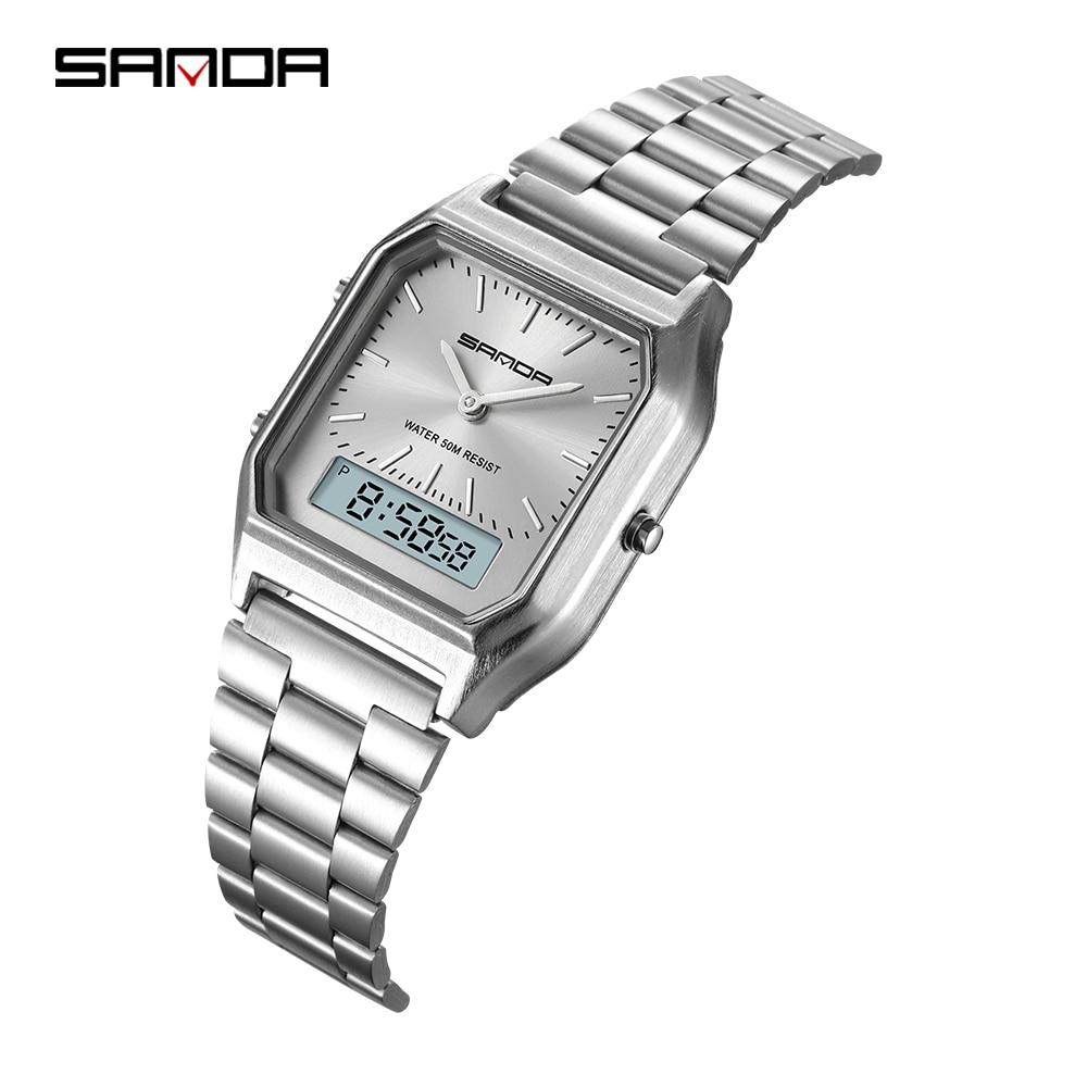 Fashion Sanda Military Sports Watches Waterproof Mens Top Brand Luxury Clock Electronic Led Digital Watch Men Relogio Masculino