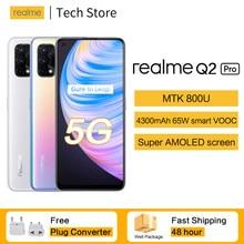 Realme Q2 Pro 5G Celular 65W VOOC SuperAMOLED Bildschirm 8GB 128GB MTKDimensity 800U 48MP Ultra-klar Vier Kameras Android Handy