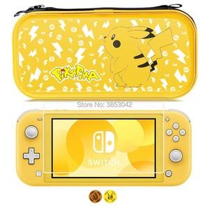 Image 2 - Funda rígida y duradera portátil para la consola Nintendo Switch Lite, funda Pikachus, funda de transporte para Nintendoswitch, accesorio
