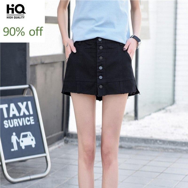 2020 New Summer Womens Jean Short Pants Korean Slim Fit High Waist Shorts Female Streetwear Casual Denim Short Plus Size