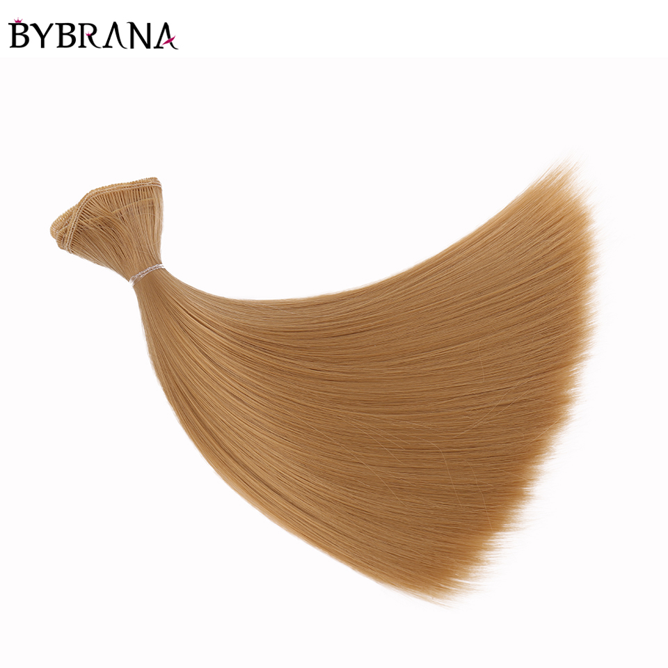 Bybrana Long Straight High Temperature Fiber Brown 15*100cm and 25*100cm and 35*100cm BJD SD Doll Wigs DIY Hair Free Shipping