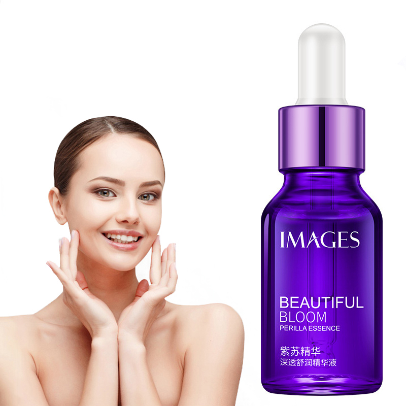 1Pc Brand New Natural Perilla Face Essence Purple Bottle Moisturizing Brightening Face Serum Women Beauty Skin Care Tool TSLM2
