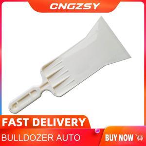 Image 1 - Lange Handvat Bulldozer Zuigmond Voor Voorruit Folie Folie Gereedschappen Auto Venster Sneeuw Ijs Scrubber Tint Gereedschap B12