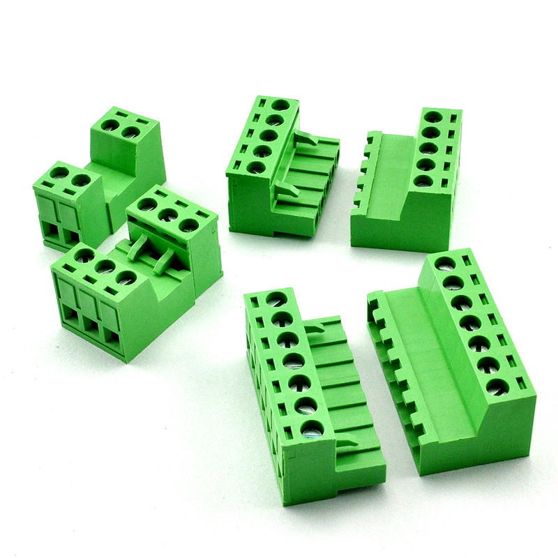 5 Sets 5.08MM Pluggable Terminal Blocks Connector KF2EDGKR 5.08 Butting Style 2/3/4/5/6/7/8 Pin Screw Terminal