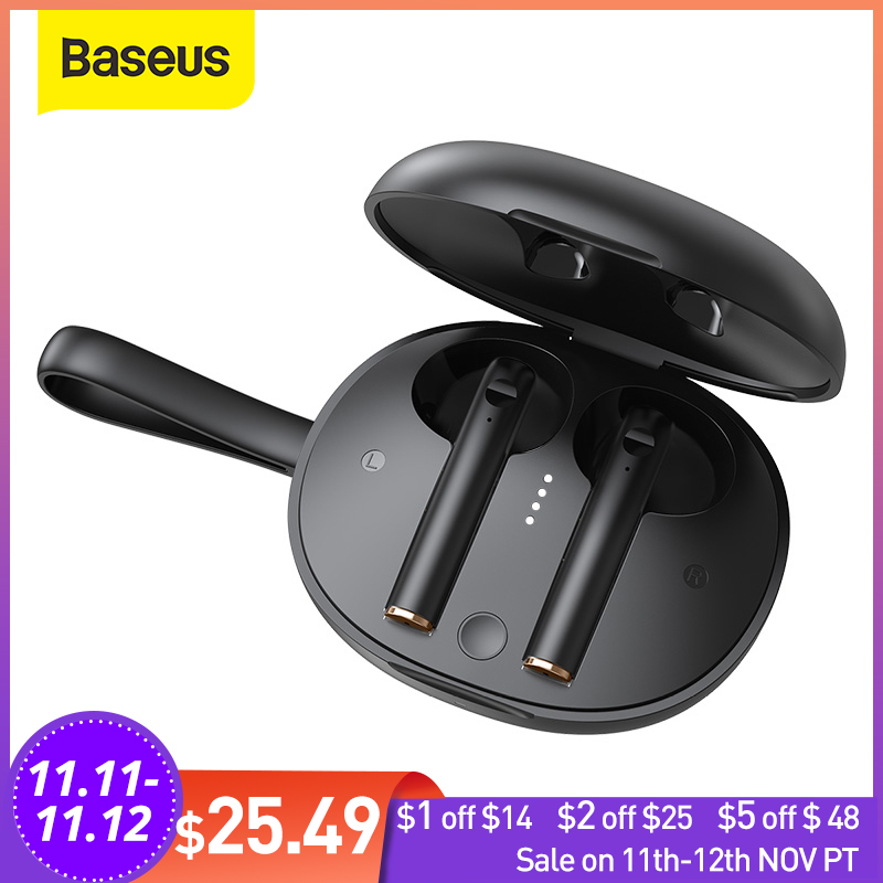 Baseus W05 TWS Bluetooth Earphones Touch Control Earphones HD Stereo Wireless Earbuds Support Qi Chargers
