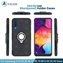 Shockproof Holder Cases Cover For Samsung galaxy A10 20 30 40 50 60 70 M10 Magnetic Ring Case samsung A70 case