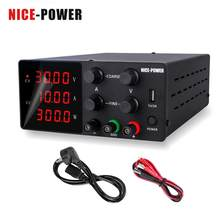 Nice-power-fuente de alimentación de laboratorio ajustable, fuente de alimentación Digital para reparación de teléfono y protección de cortocircuito, 30V, 10A