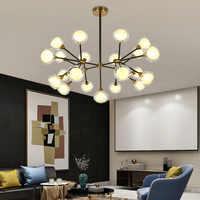 Po nowoczesne kreatywny magiczna fasola Nordic salon sypialnia restauracja wisiorek światła kreatywny gałęzie minimalistyczny lampa wisząca