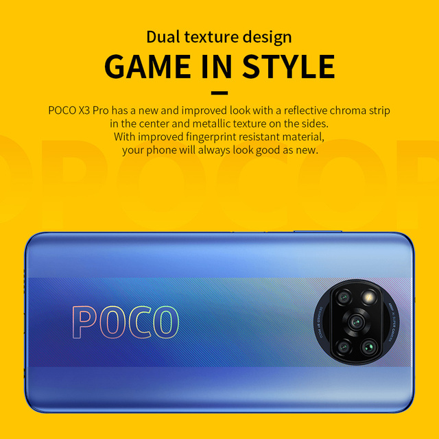 Xiaomi POCO X3 Pro Global Version Snapdragon 860 xiaomi Smartphone 120Hz DotDisplay 5160mAh 33W NFC Quad AI Camera 3