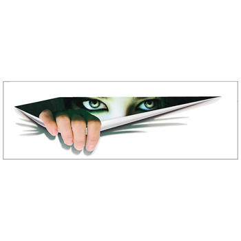 3D Eye Peeking Monster Thriller Mirror Wing Body Decal Scary Fun Car Sticker image
