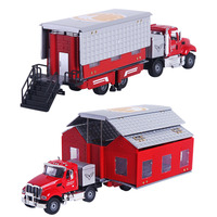 New alloy deformation car model 1:50 simulation double room wagon die casting toy car children's toys gifts