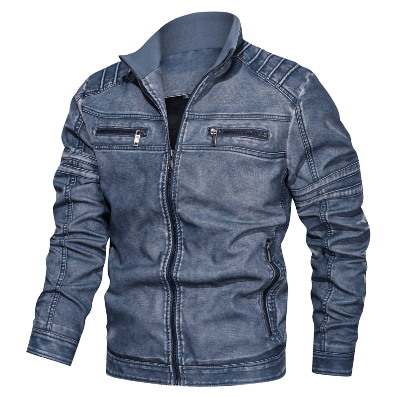 Jacket Pilot Motorcycle Military Plus-Size Winter Coat Pu-Bomber New Autumn Hot Flight