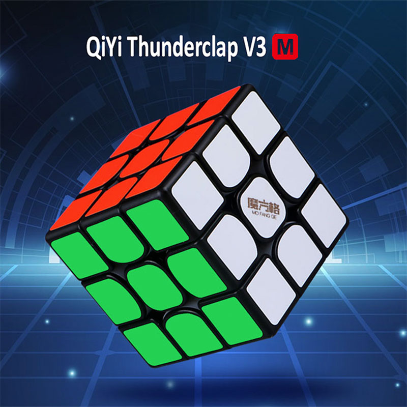 New QiYi MoFangGe Thunderclap V3 M 3x3 Magnetic Magic Cube Puzzles Cube Professional Magnets Speed Cubo Magico Thunderclap 3x3