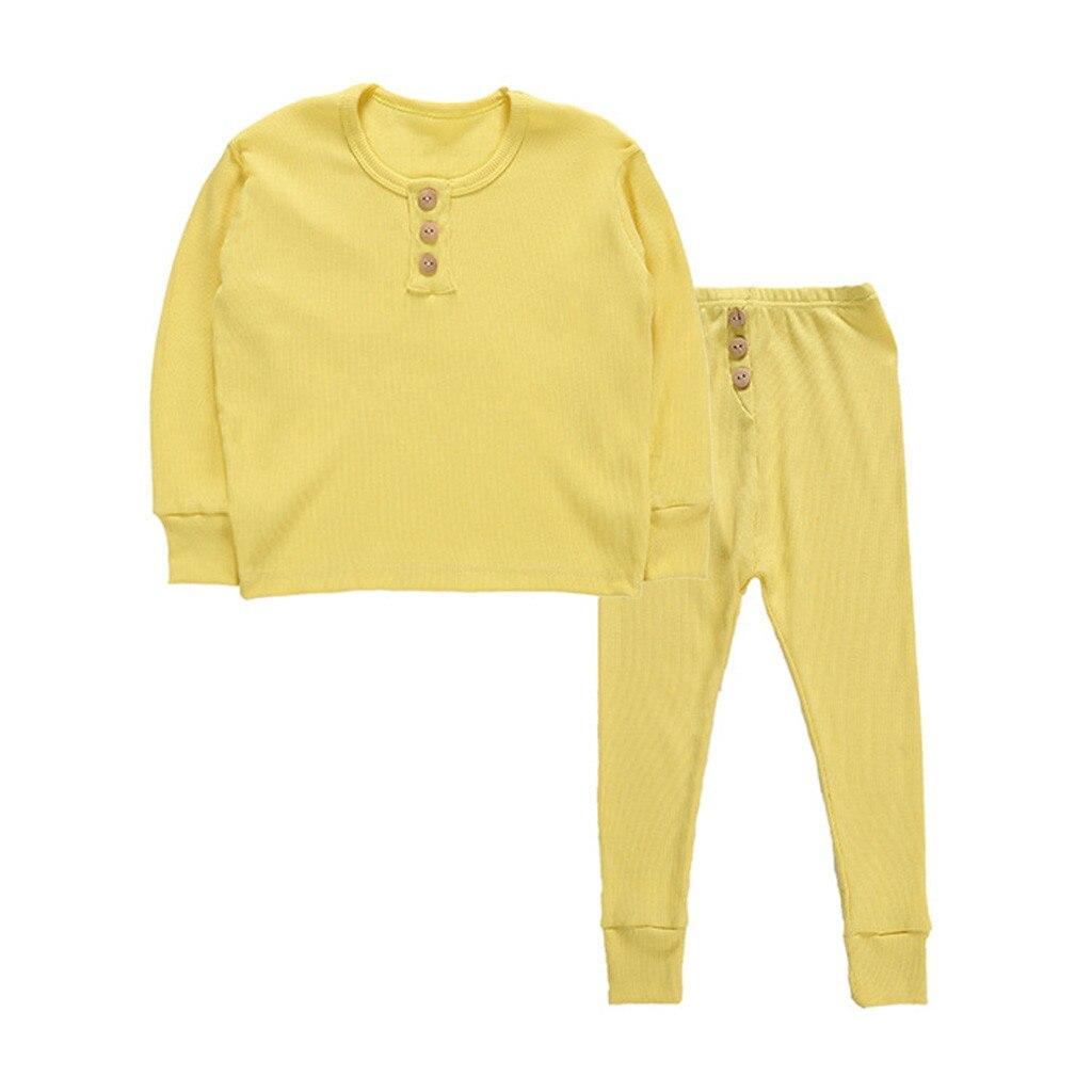 Girls Pajamas Sika Deer Children Pjs Kids Rib Long Sleeves Cotton Clothes Set
