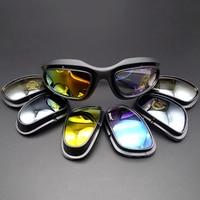 Motocycle óculos de sol 4 lente óculos proteção para yamaha mt 09 r1 2014 fz8 fazer 1000 yzf600r thundercat tdm 900 Óculos p/ moto     -