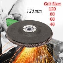125mm 5 zoll 40/60/80/120 Grit Schleifen Rad Klappe Disc Winkel Grinder Schleif Werkzeug 13000 rpm Aluminium Schleif Werkzeuge