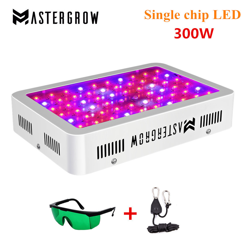 MasterGrow 300W LED Grow Light Panel Full Spectrum 10 Band Kit With100x3W Chip For Greenhouse Plant Veg Grow/Bloom