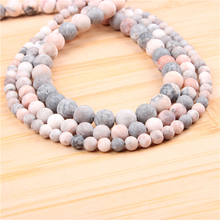 Natural Frosted Zebra 4/6/8/10/12mm?Bead?Round?Bead?Spacer?Jewelry?Bead?Loose?Beads?For?Jewelry?Making?DIY?Bracelet
