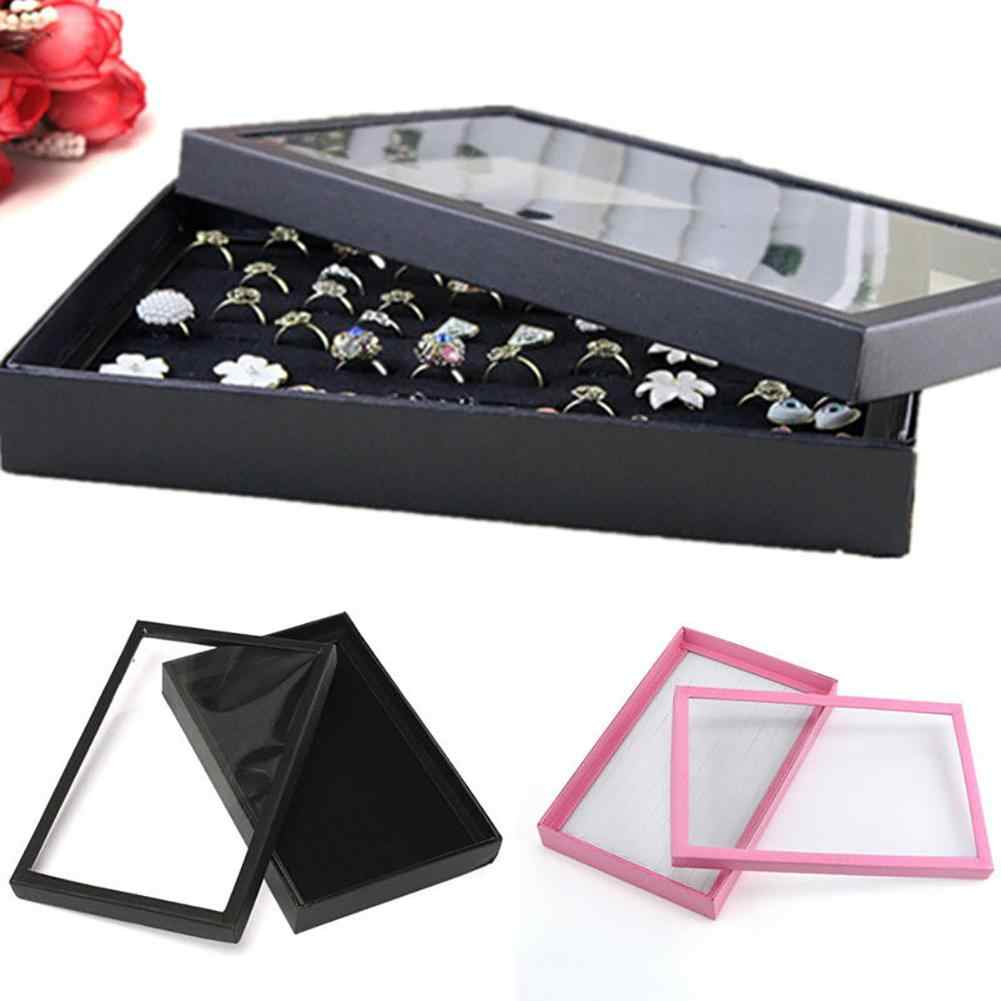 100 Slots Rings earrings jewelry organizer Jewelry Display Tray Show Case Organizer Box Storage Holder
