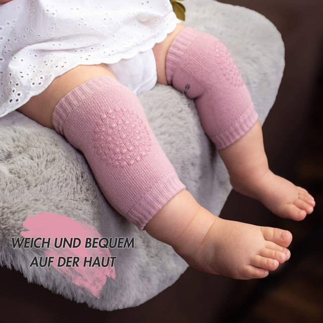 1 Pair Cozy Baby knee pad kids safety crawling elbow cushion infant toddlers baby leg warmer Knee Support Protector 2021 New 4
