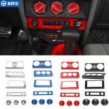 Mopai carro de navegação central ar condicionado decoração kit capa adesivos acessórios para jeep wrangler jk 2007 2008 2009 2010