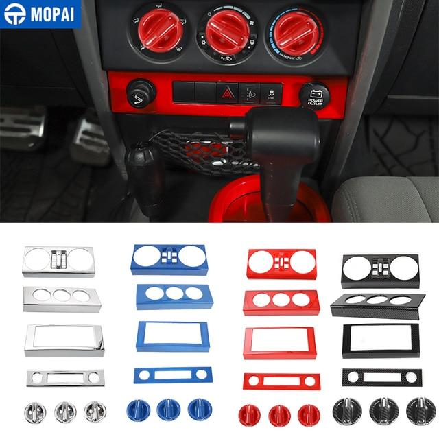 Samochód MOPAI centralna nawigacja klimatyzacja zestaw dekoracyjny pokrywa naklejki akcesoria dla Jeep Wrangler JK 2007 2008 2009 2010