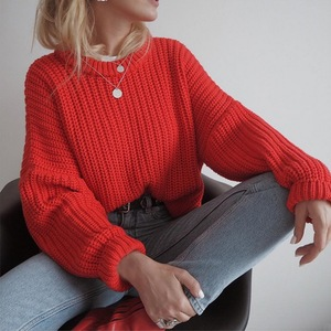Women Solid Autumn Winter Oversized Sweater Elegant Loose Knitted Sweaters Women Long Sleeve Pullover Female Jumper Cashmere New