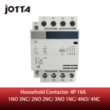 4P 16A 220 V/230 V 50/60HZ na szynę din stycznik domowy ac 1NO 3NC/2NO 2NC/3NO 1NC/4NO/4NC
