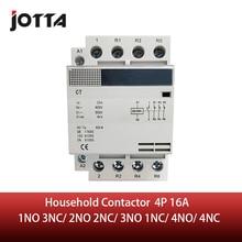 4P 16A 220 V/230 V 50/60Hz DIN Đường Sắt Hộ Gia Đình AC Contactor 1NO 3NC/ 2NO 2NC/3NO 1NC/4NO/4NC