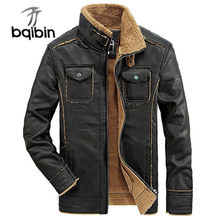 Brand New Jackets Men Casual Thick Warm Outwear Jacket Winderbreaker Pu Motorcycle Leather Jackets Male Fur Coat(China)