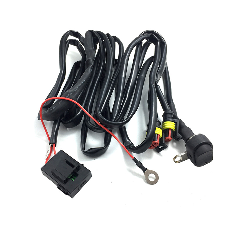 For BMW Motorcycle LED Auxiliary Fog Lights wire switch
