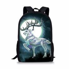 HaoYun Fashion Childrens Backpack Fantasy Moon Deer Pattern Toddler Kids School Book Bags Cute Animal Girls Travel