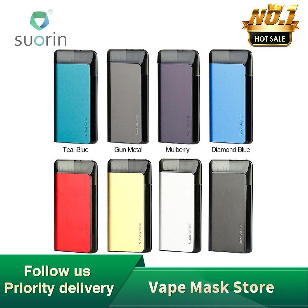 Original De Suorin Air Plus Pod Système Kit 930mAh avec Cinq niveaux LED et Déflecteur D'huile Conception e-cig Vape Kit VS De Suorin Air/GLISSER Nano