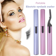 2 Colors Electric Perm Heated Eyelash Curler Long Lasting Portable Pen Style Ironing Eyelashes Curling Curler Device Eye Makeup