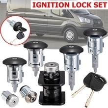 7 шт. автомобильный бочонок дверные замки набор ключей 4359018 1C1A-V22050-Ba для FORD TRANSIT Mk6 2000 2001 2002 2003-2006