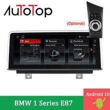 AUTOTOP 10 Multimídia de Navegação GPS Do Carro Android Para 1 Série 120i E87 E81 E82 E88 CCC CIC 2005-2012 som do carro Jogador Idrive