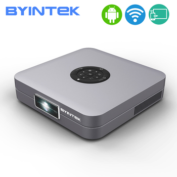 BYINTEK U20 Pro Android Mini LED, proyector DLP inteligente Andiron portátil HD soporte de teléfono inteligente de 300 pulgadas de cine en casa