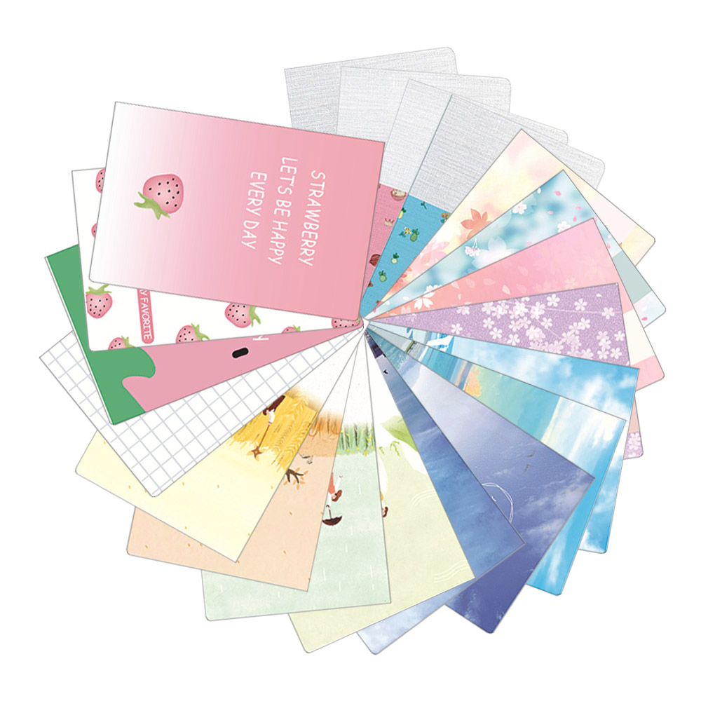 A5/1piece Lovely Strawberry Cherry Blossom Series Graffiti Notebook Line Inner Page Office School Supplies Random Color 56pages