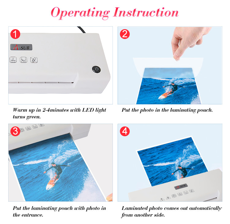 A3/A4 Hot and Cold Laminating Machine With LED Light For Precious Photo