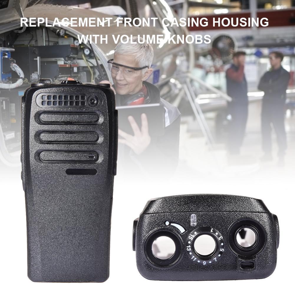 Replacement Front Casing Housing With Volume Knobs For Motorola DEP450 DP1400 XiR P3688 Radio Walkie Talkie